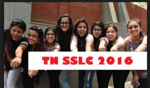 Tamil nadu SSLC Result 2016